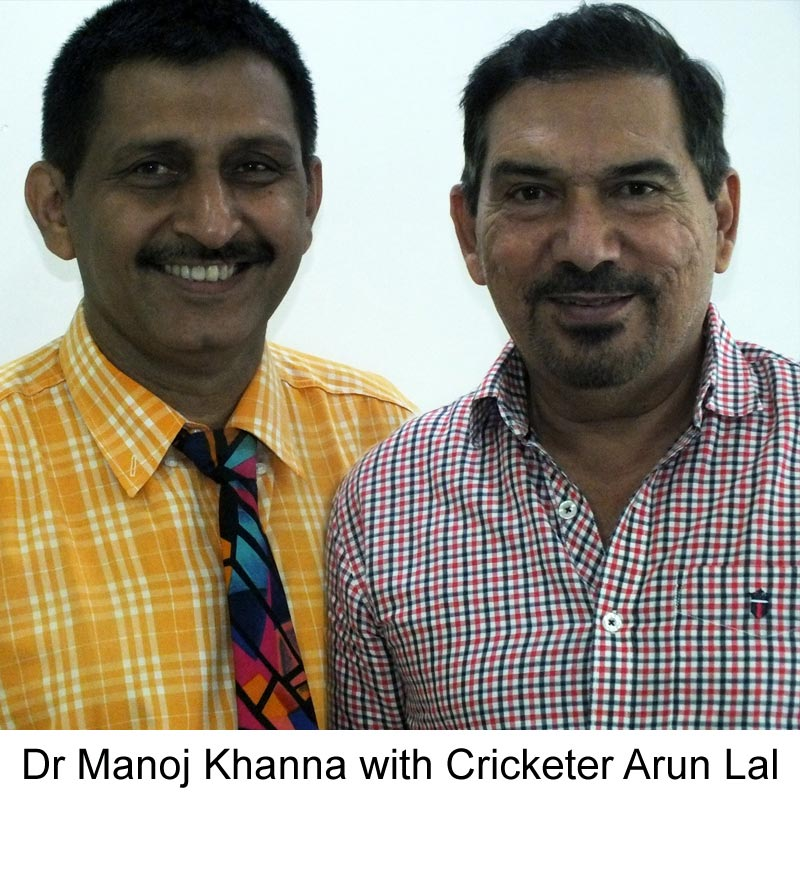 Arun Lal with famous Hair Transplant surgeon Dr Manoj Khanna