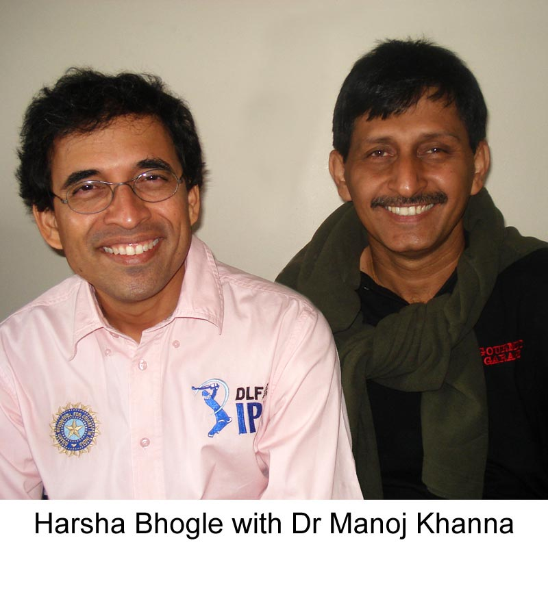 Harsha Bhogle with famous Hair Transplant surgeon Dr Manoj Khanna