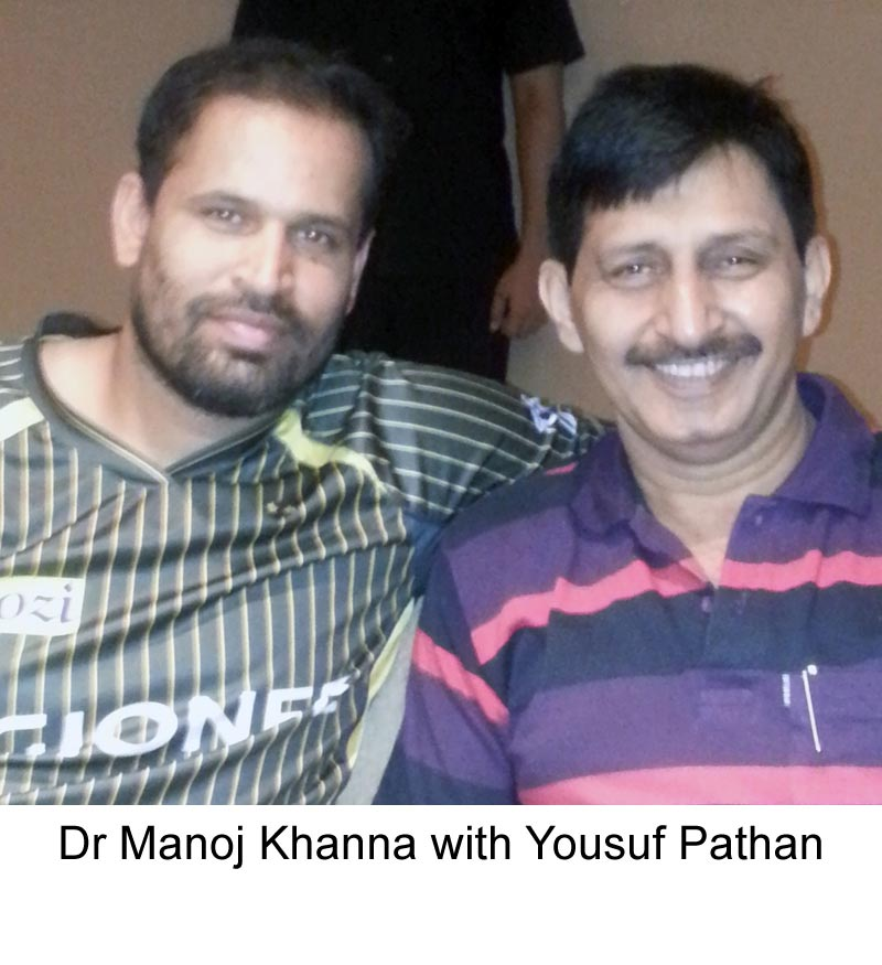 Bengali film actor Arjun Chakrabarty with famous Hair Transplant surgeon Dr Manoj Khanna