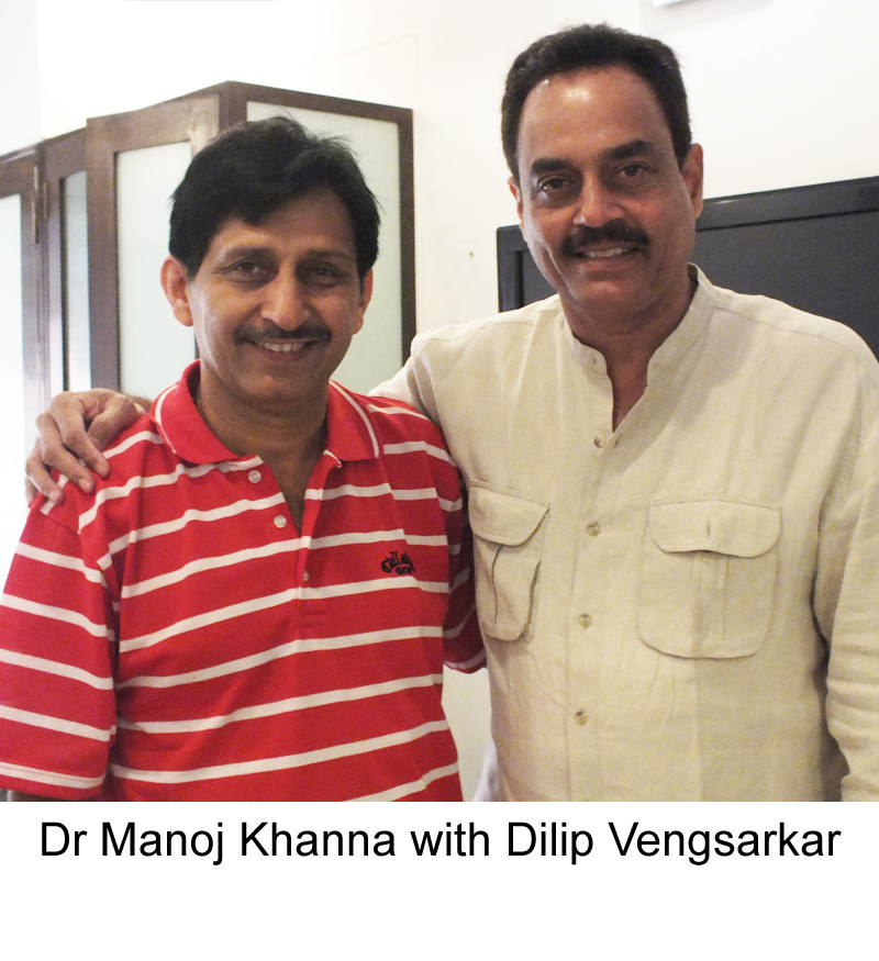 Dilip Vengsarkar with famous Hair Transplant surgeon Dr Manoj Khanna