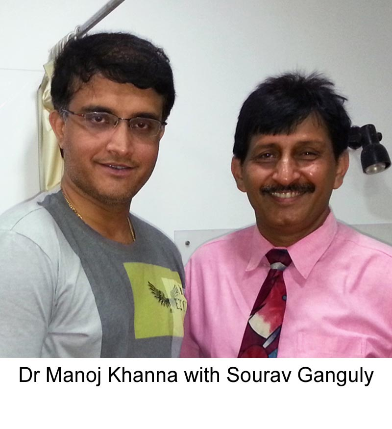 Sourav Ganguly with famous Hair Transplant surgeon Dr Manoj Khanna