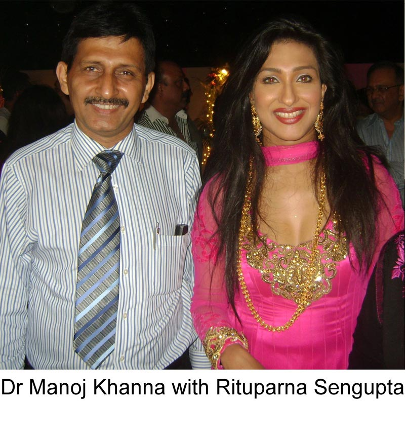 Rituparna Sengupta with famous Hair Transplant surgeon Dr Manoj Khanna