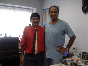 Charu Sharma with Hair transplant surgeon Manoj Khanna