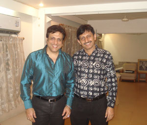 Govinda with Hair transplant surgeon Manoj Khanna