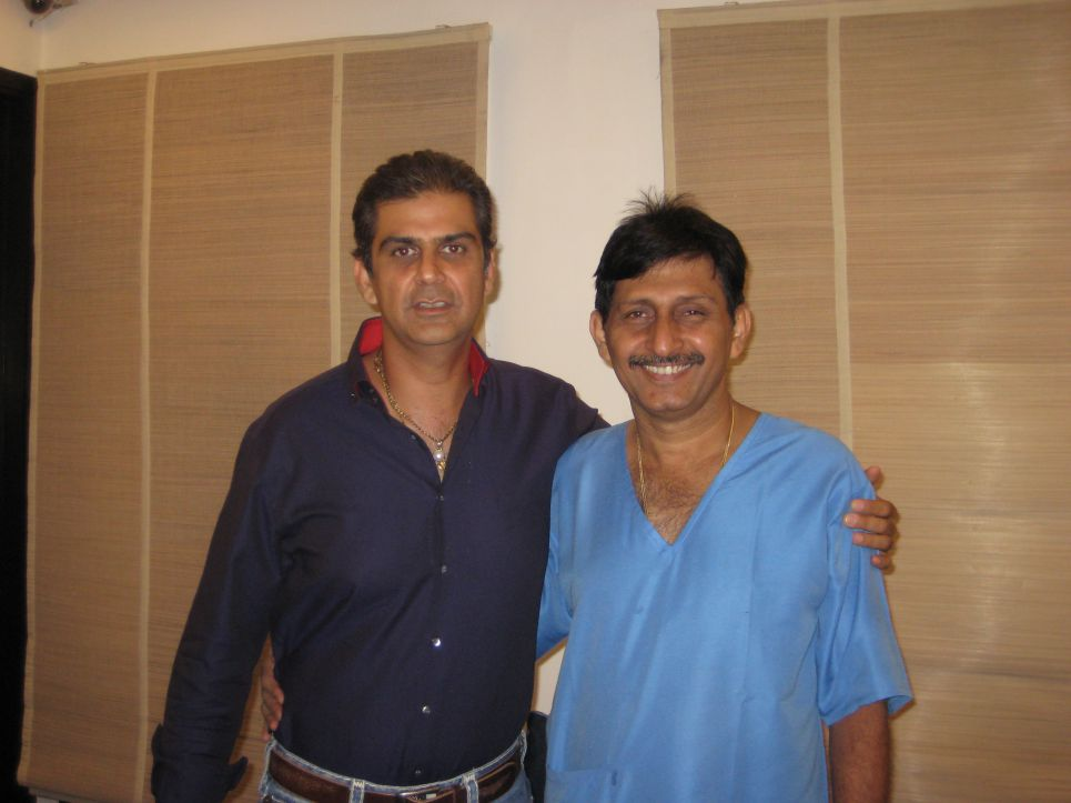 Nikhil Chopra with Hair transplant surgeon Manoj Khanna