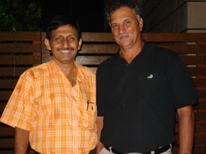 Roger Binny with Hair transplant surgeon Manoj Khanna